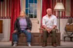 Shot of Susan Earnshaw (Maxine Goodman) and David Callister (Nigel Forbes)