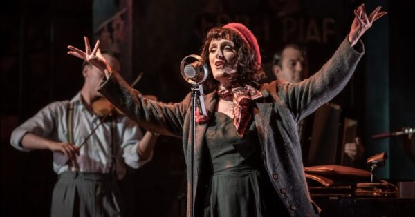 Shot of Jenna Russell as Edith Piaf