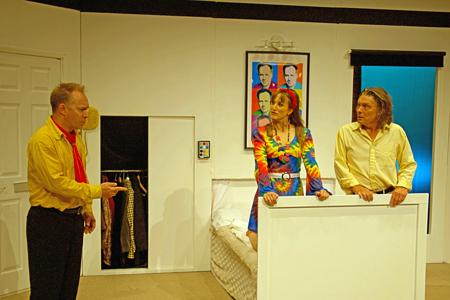 Headshot of David Martin (Draycott Harris), Chloe Thorpe (Honey Tooks) and John Goodrum (James Harris)